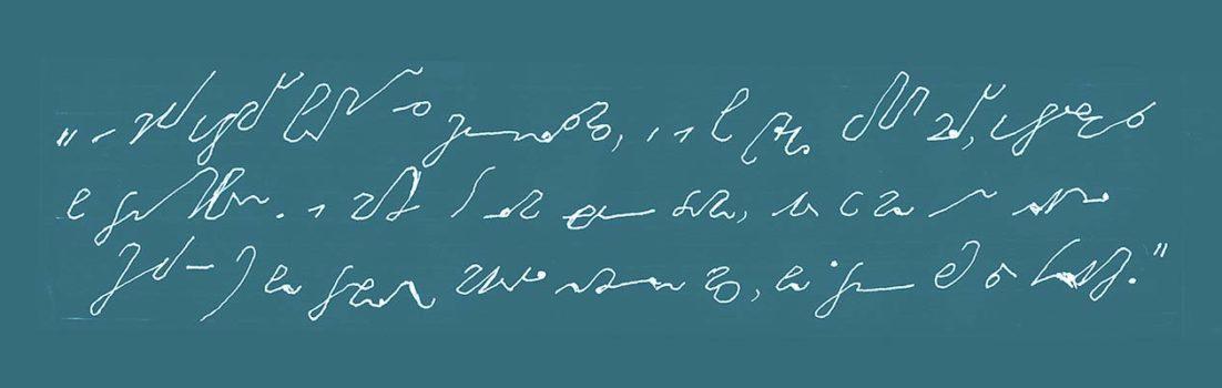Stenografietext